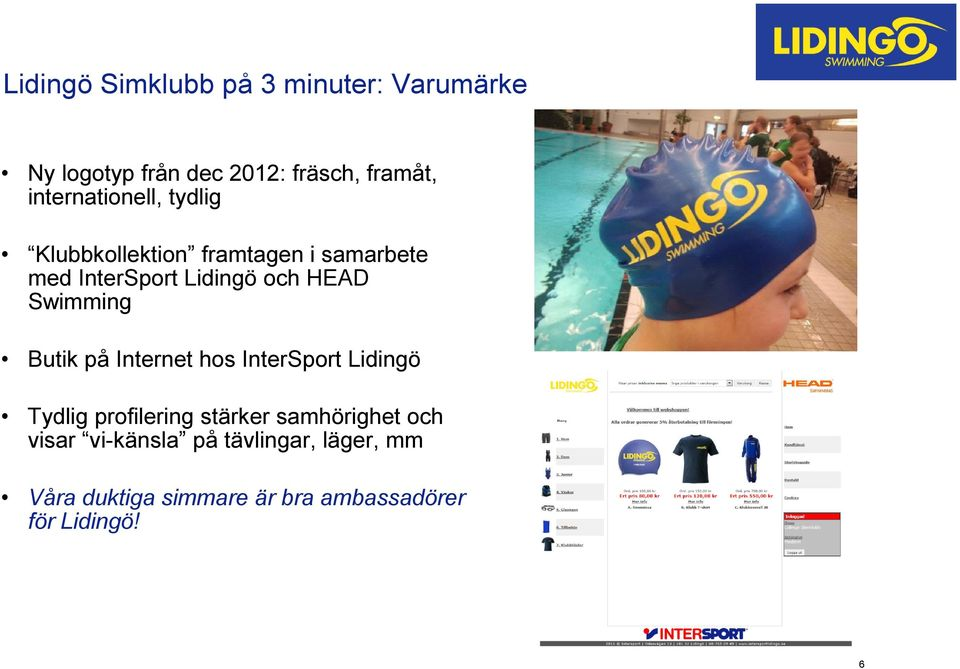 HEAD Swimming Butik på Internet hos InterSport Lidingö Tydlig profilering stärker