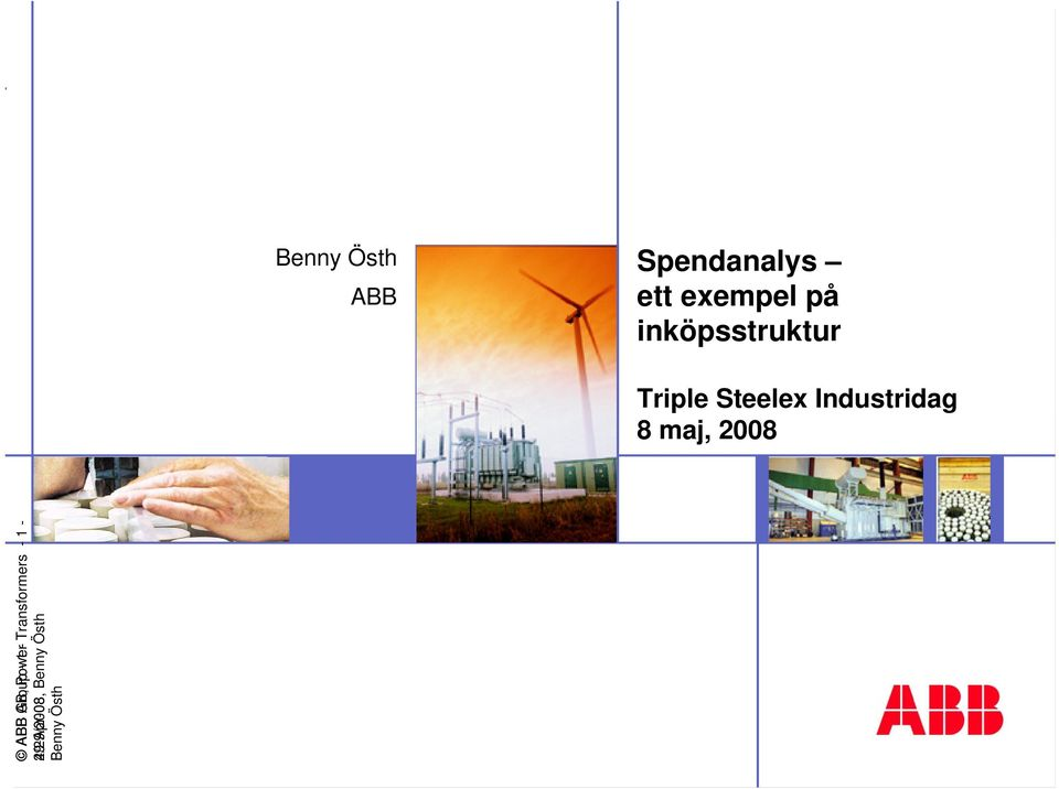 Industridag 8 maj, 2008 ABB Group