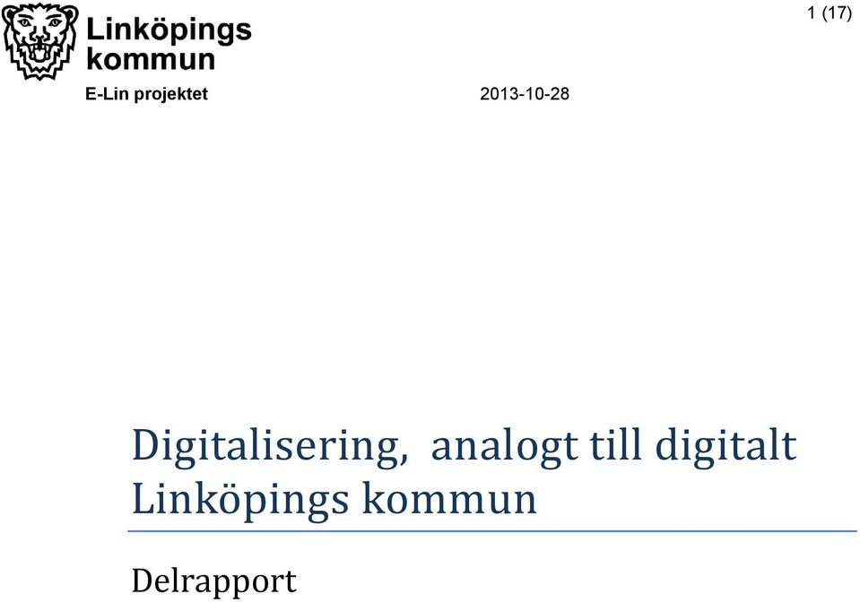Digitalisering, analogt