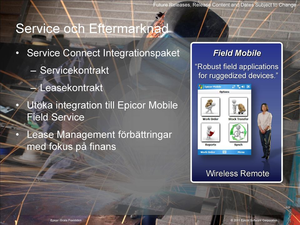 integration till Epicor Mobile Field Service Lease Management förbättringar med
