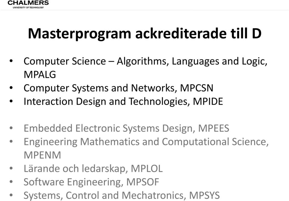 Electronic Systems Design, MPEES Engineering Mathematics and Computational Science, MPENM