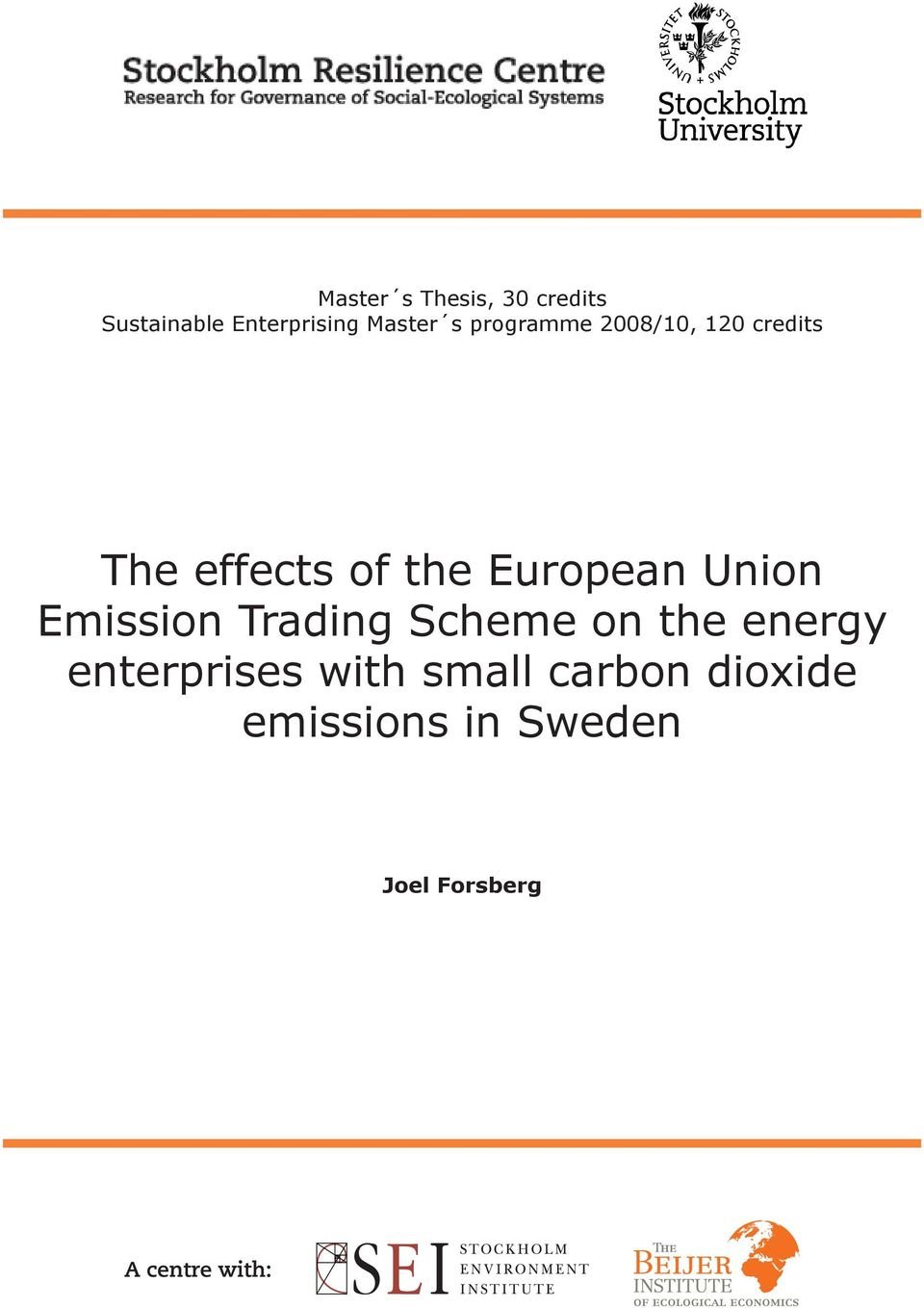 European Union Emission Trading Scheme on the energy