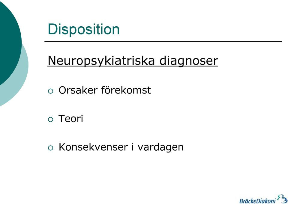 diagnoser Orsaker