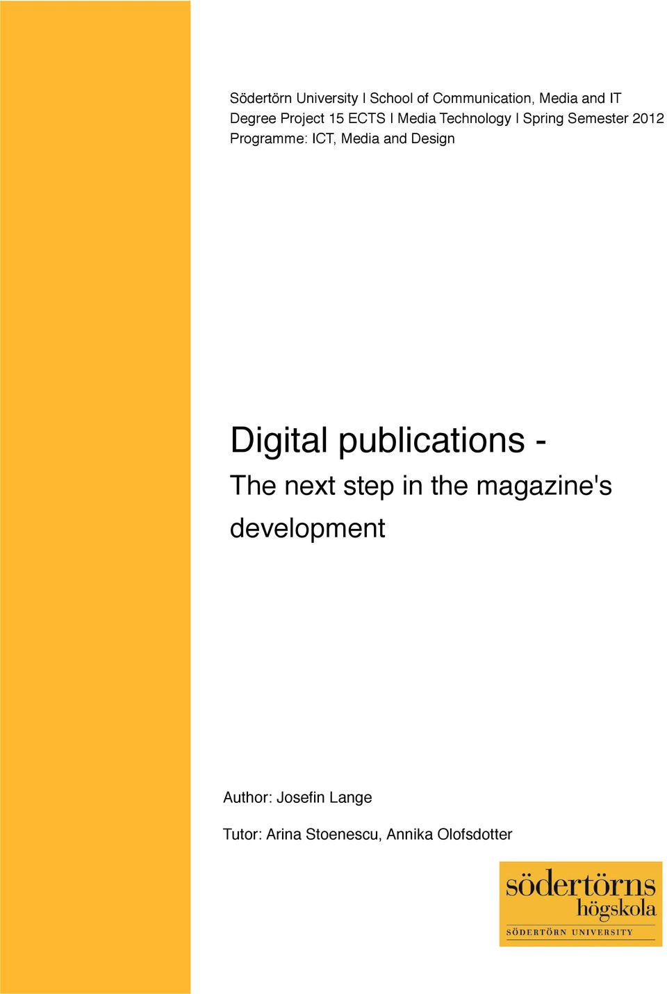 Media and Design Digital publications - The next step in the