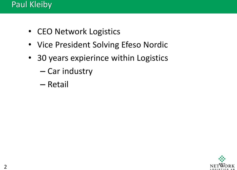 Solving Efeso Nordic 30 years