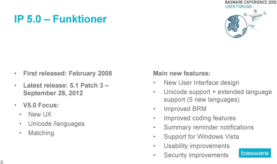 0 Focus: New UX Unicode /languages Matching Main new features: New User Interface design Unicode