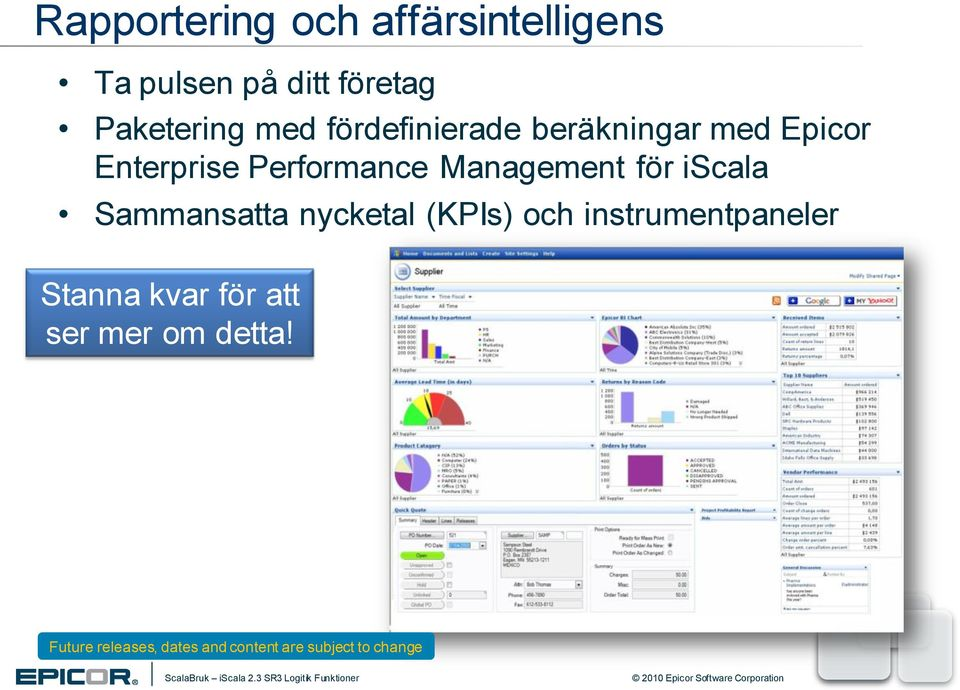 Enterprise Performance Management för iscala Sammansatta