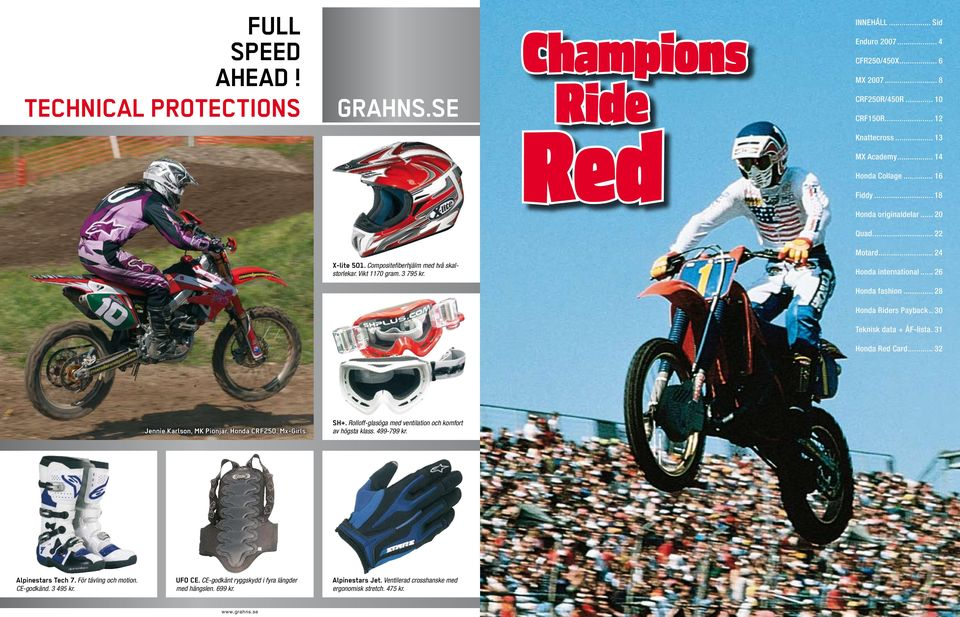.. 18 Honda originaldelar... 20 Quad... 22 Motard... 24 Honda international.