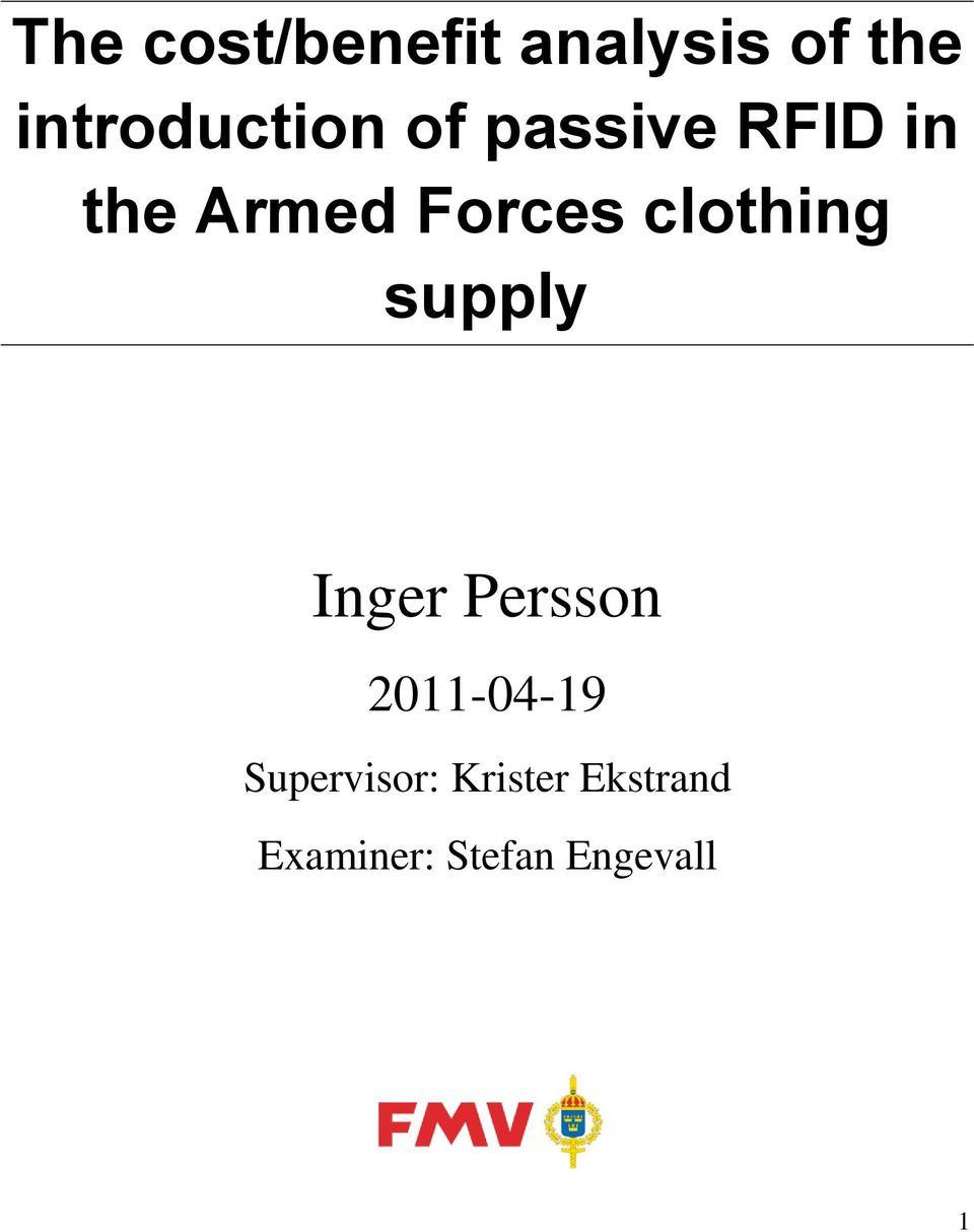 Forces clothing supply Inger Persson