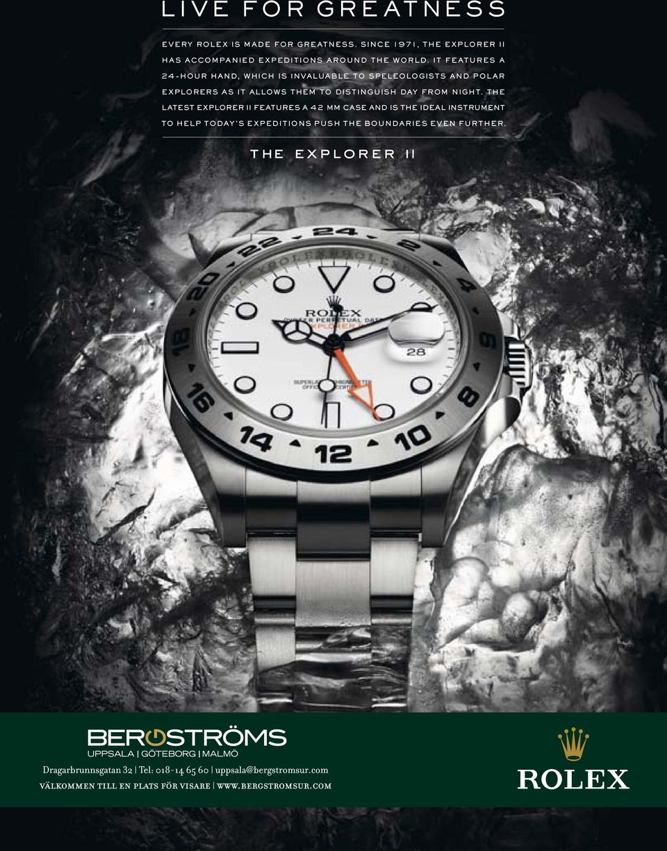 IT FEATURES A 24-HOUR HAND, WHICH IS INVALUABLE TO SPELEOLOGISTS AND POLAR EXPLORERS AS IT ALLOWS