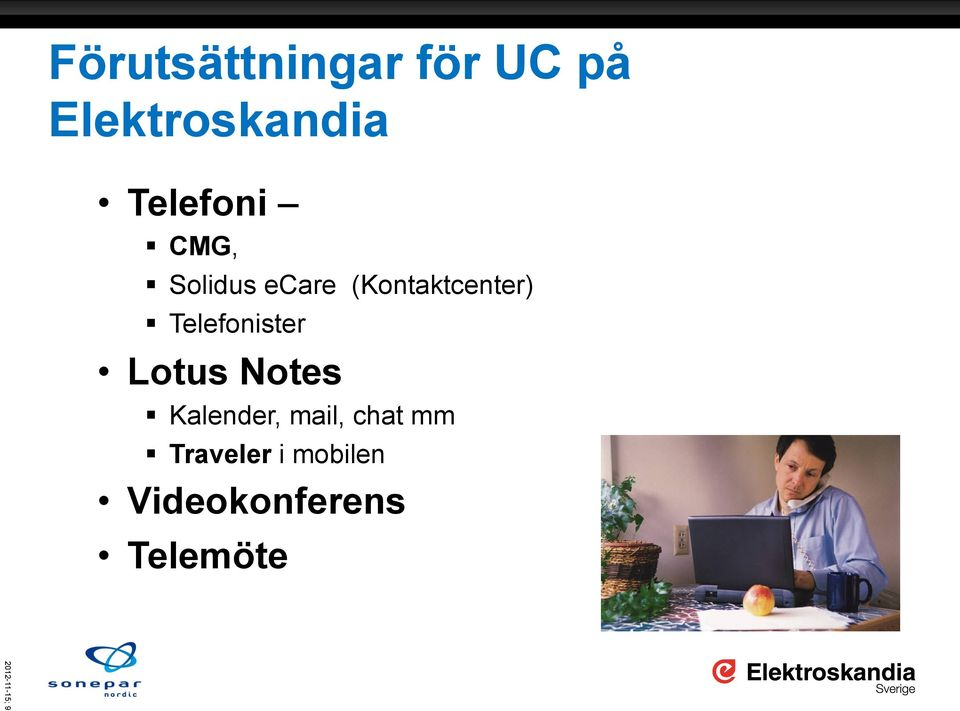 Telefonister Lotus Notes Kalender, mail, chat