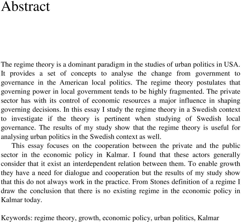 Theoretical Perspective of Local Government - Literature Review