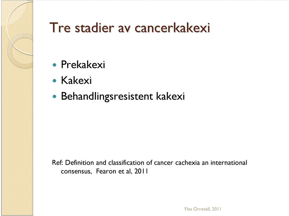 Definition and classification of cancer