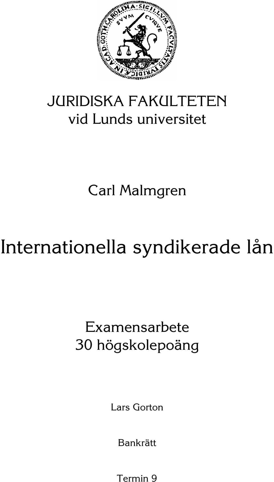 Internationella syndikerade lån