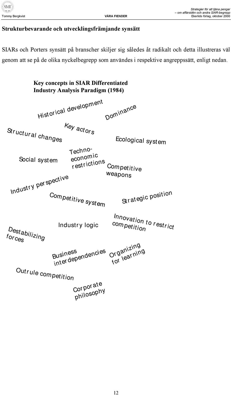 Key concepts in SIAR Differentiated Industry Analysis Paradigm (1984) Historical development Dominance Key actors Structural changes Social system Industry perspective