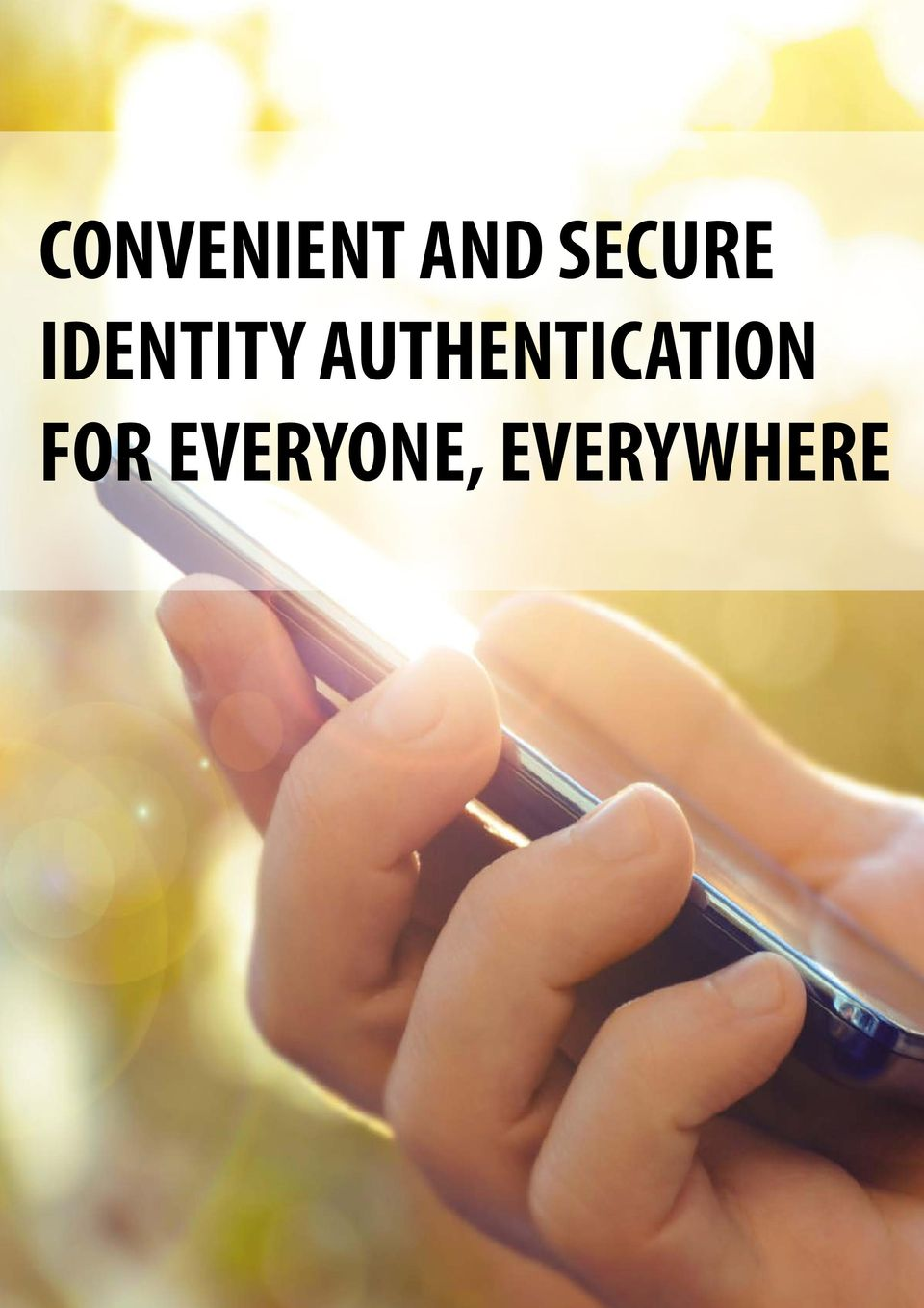 AUTHENTICATION AUTHENTICATION FOR