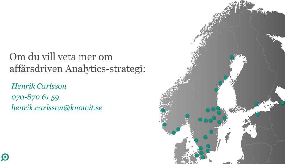 Analytics-strategi: Henrik