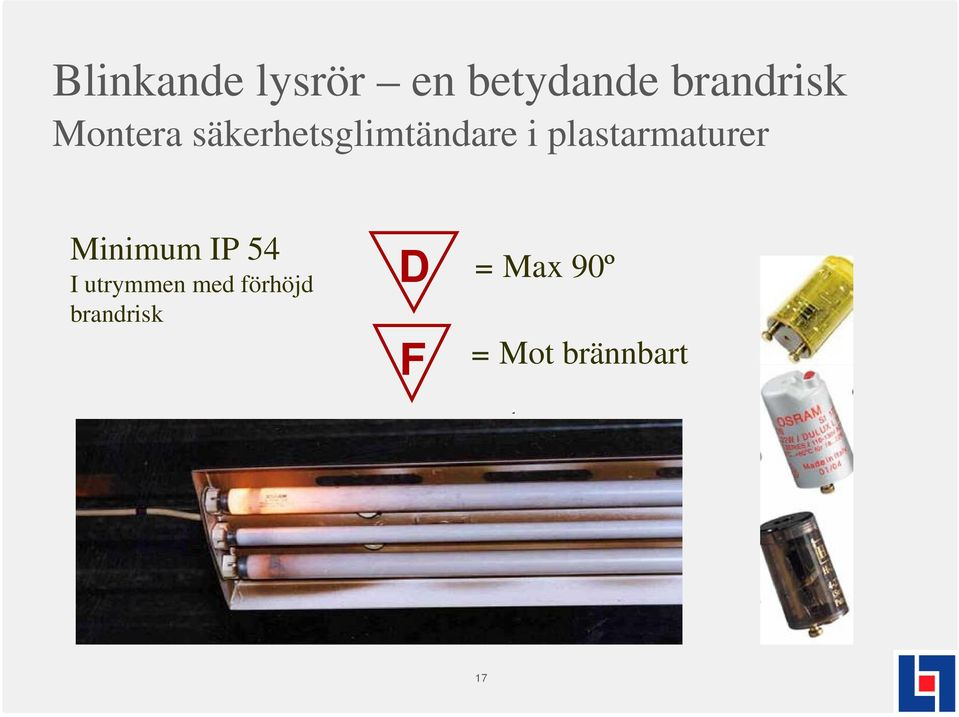 plastarmaturer Minimum IP 54 I utrymmen