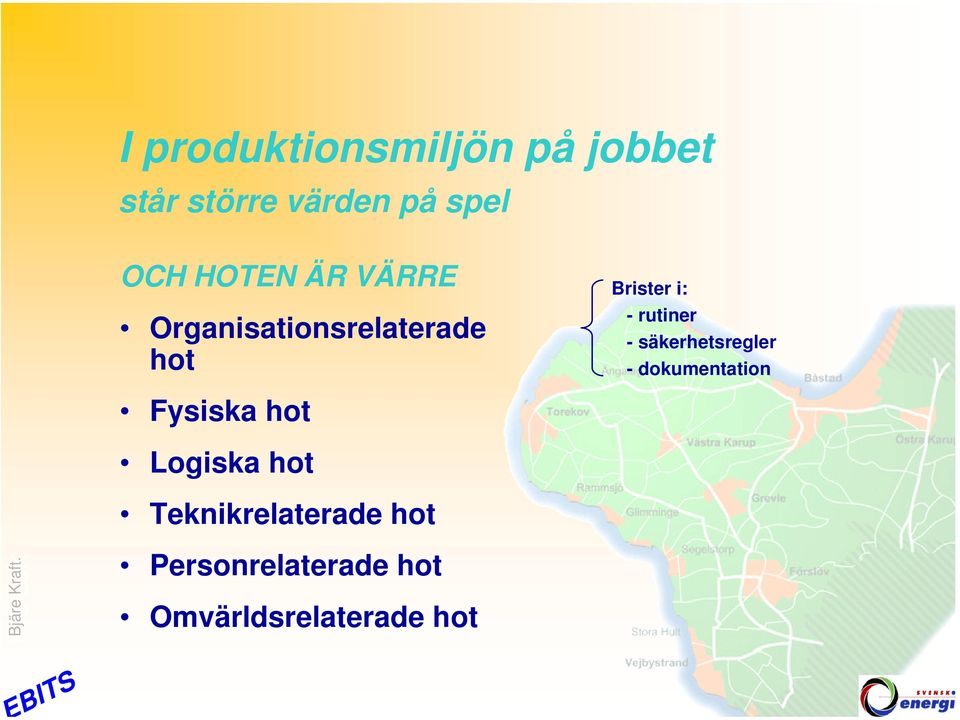 hot Logiska hot Teknikrelaterade hot Personrelaterade hot