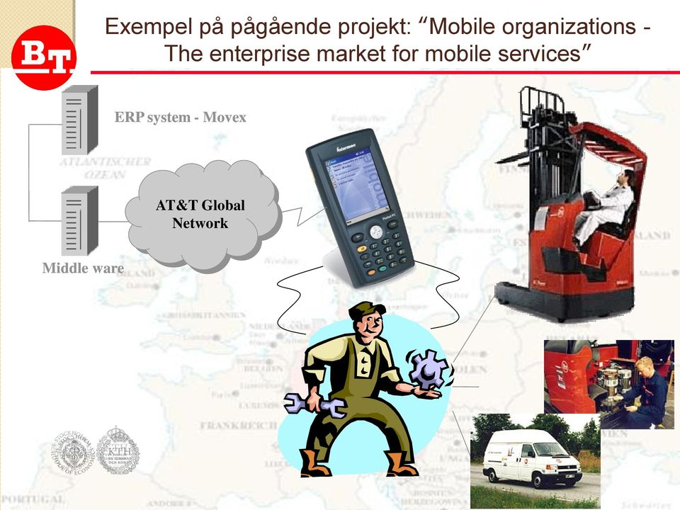 market for mobile services ERP