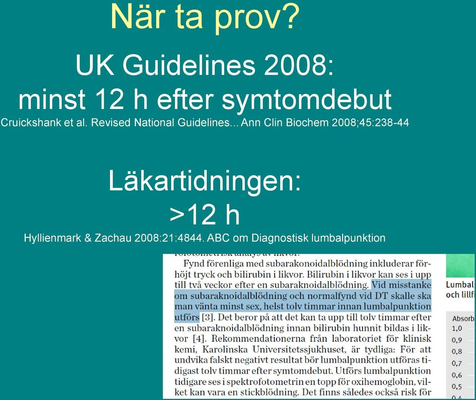 Cruickshank et al. Revised National Guidelines.