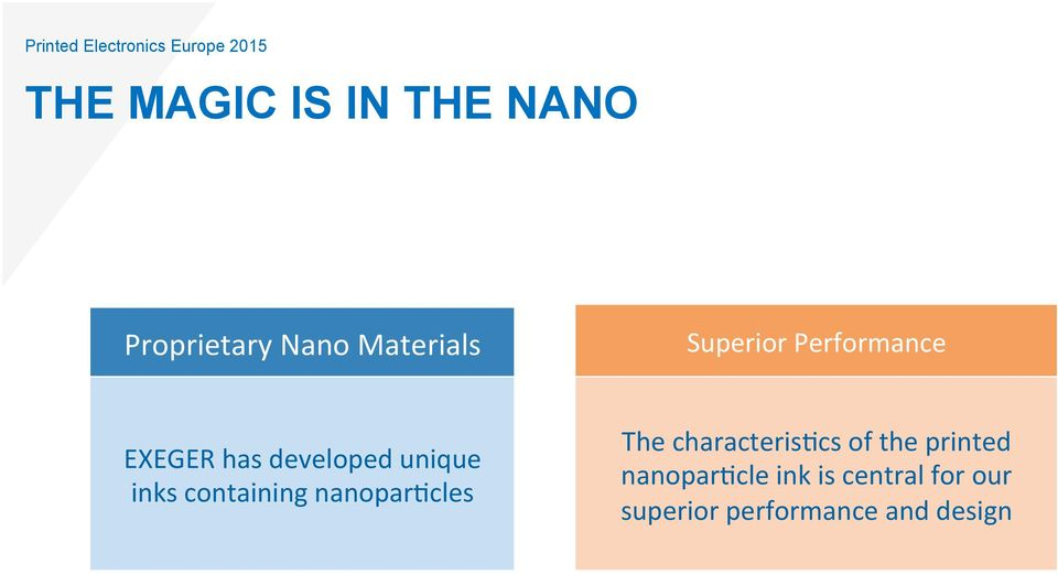 developed unique inks containing nanopar5cles The characteris5cs