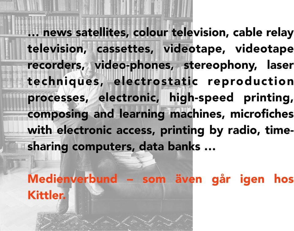 electronic, high-speed printing, composing and learning machines, microfiches with electronic