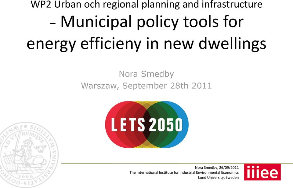 energy efficieny in new dwellings Nora