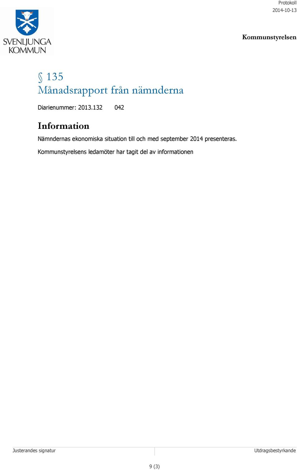 situation till och med september 2014