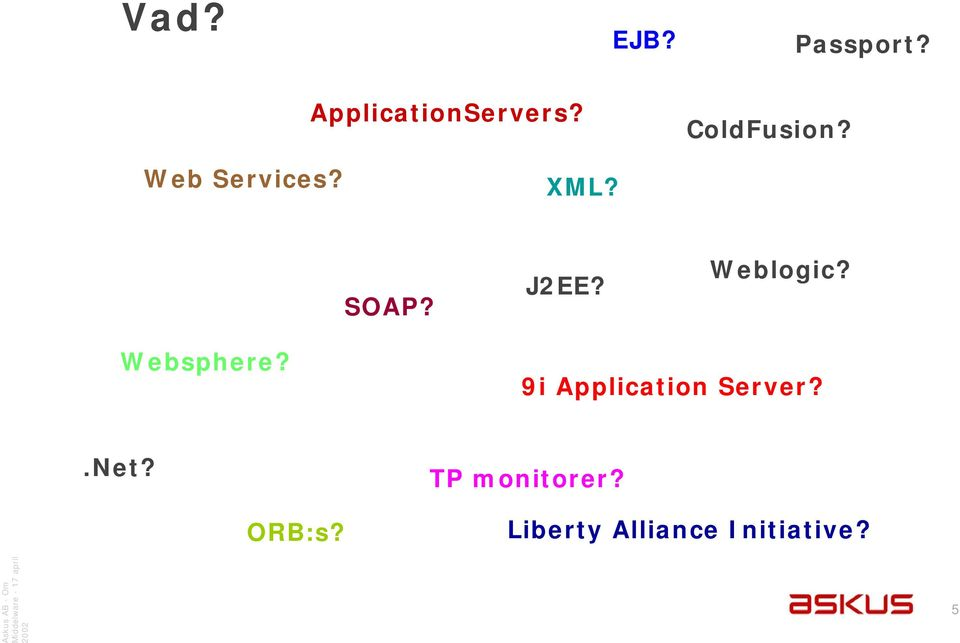 Weblogic? Websphere? 9i Application Server?