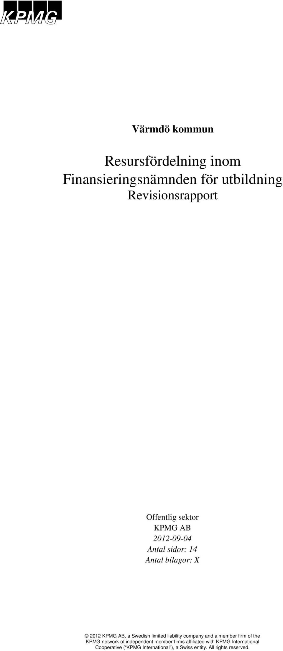 Revisionsrapport Offentlig