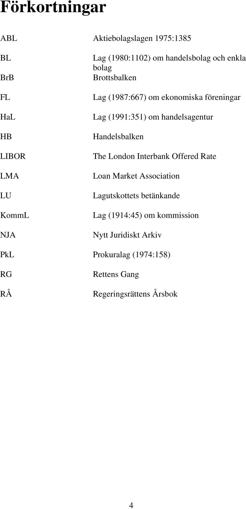 handelsagentur Handelsbalken The London Interbank Offered Rate Loan Market Association Lagutskottets