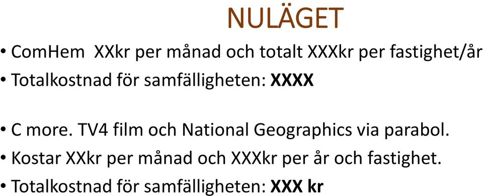 TV4 film och National Geographics via parabol.