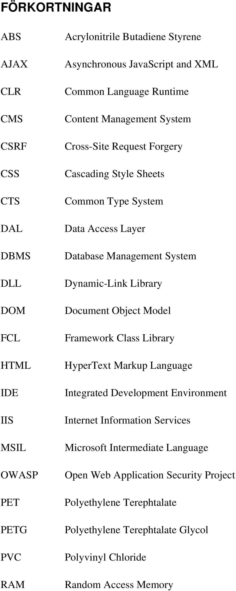 System Dynamic-Link Library Document Object Model Framework Class Library HyperText Markup Language Integrated Development Environment Internet Information Services