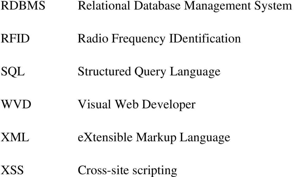 IDentification Structured Query Language Visual
