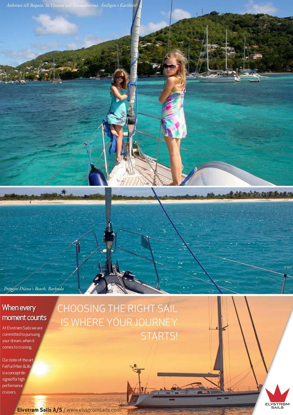 to pursuing your dream, when it your dream, when it comes to cruising. comes to cruising. CHOOSING THE RIGHT SAIL IS IS WHERE YOUR JOURNEY STARTS!