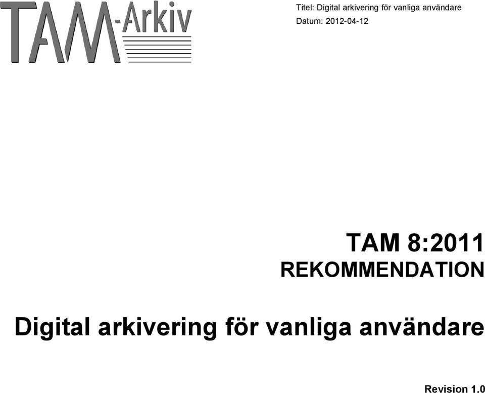 Digital arkivering