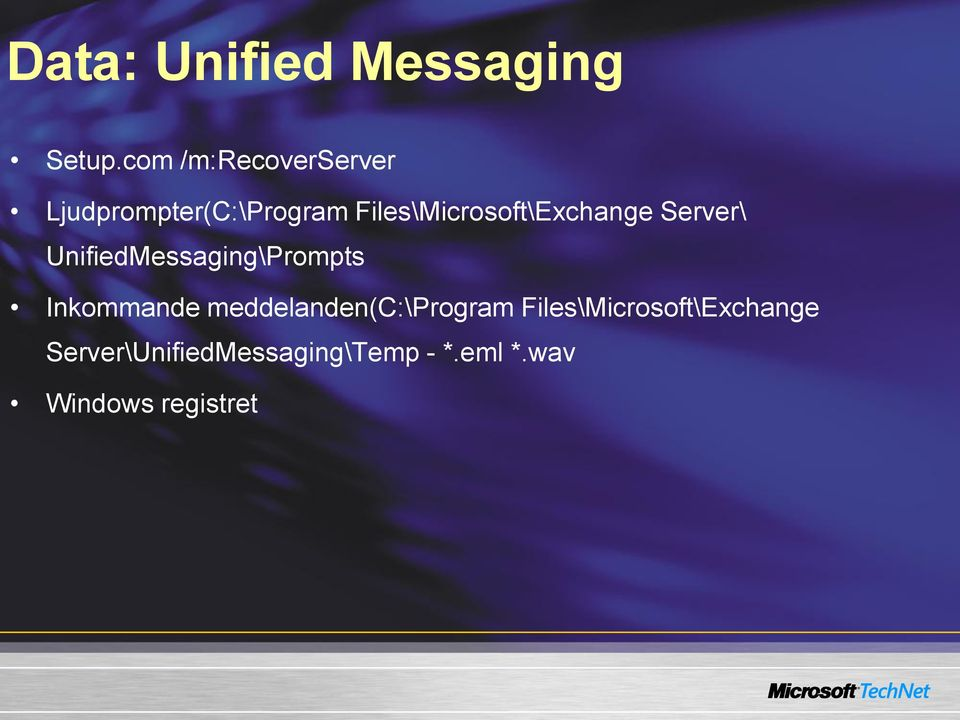 Files\Microsoft\Exchange Server\ UnifiedMessaging\Prompts