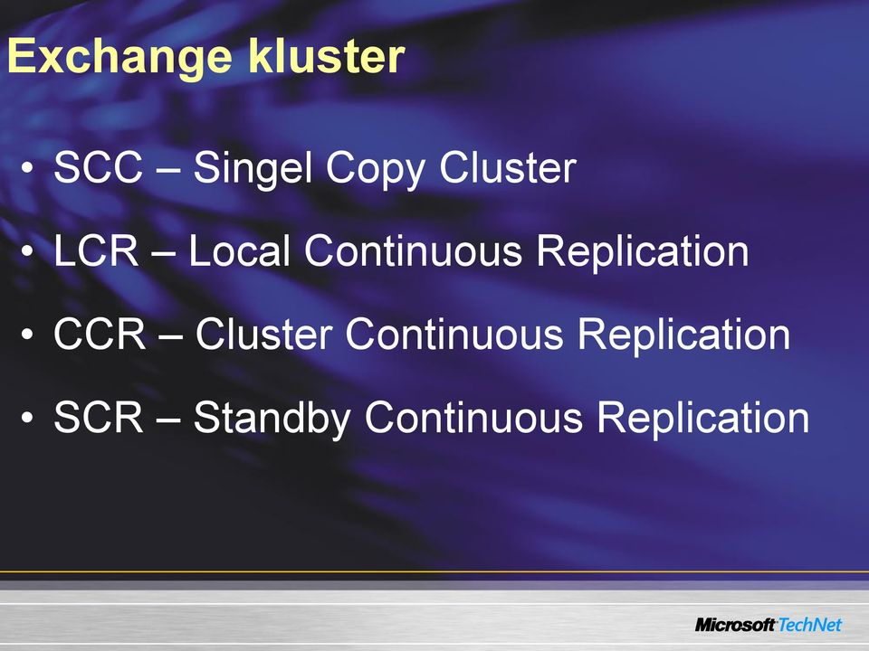 Replication CCR Cluster Continuous