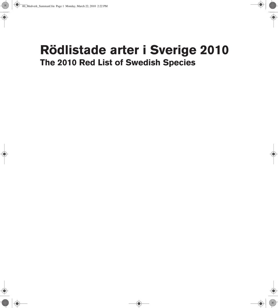 red list of swedish species Mossor Bryophytes