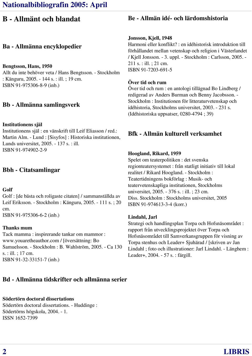 - Lund : [Sisyfos] : Historiska institutionen, Lunds universitet, 2005. - 137 s. : ill.