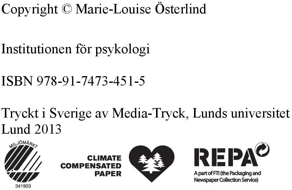 Media-Tryck, Lunds universitet Lund 2013 A part of