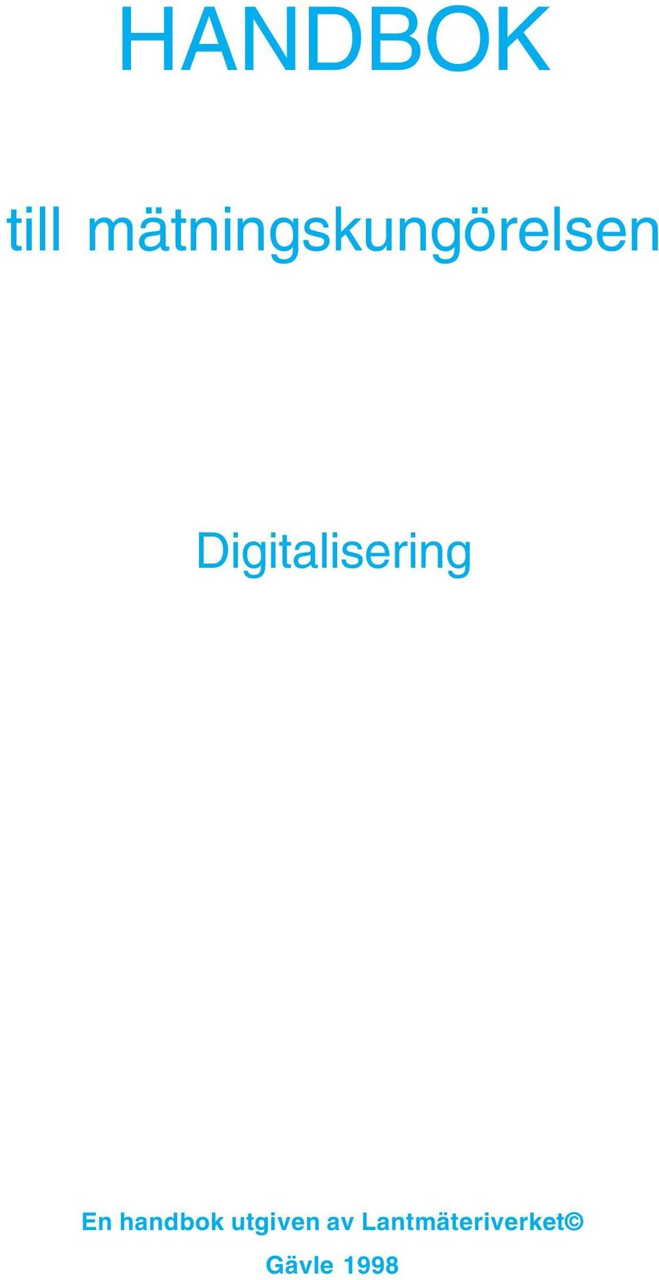 Digitalisering En