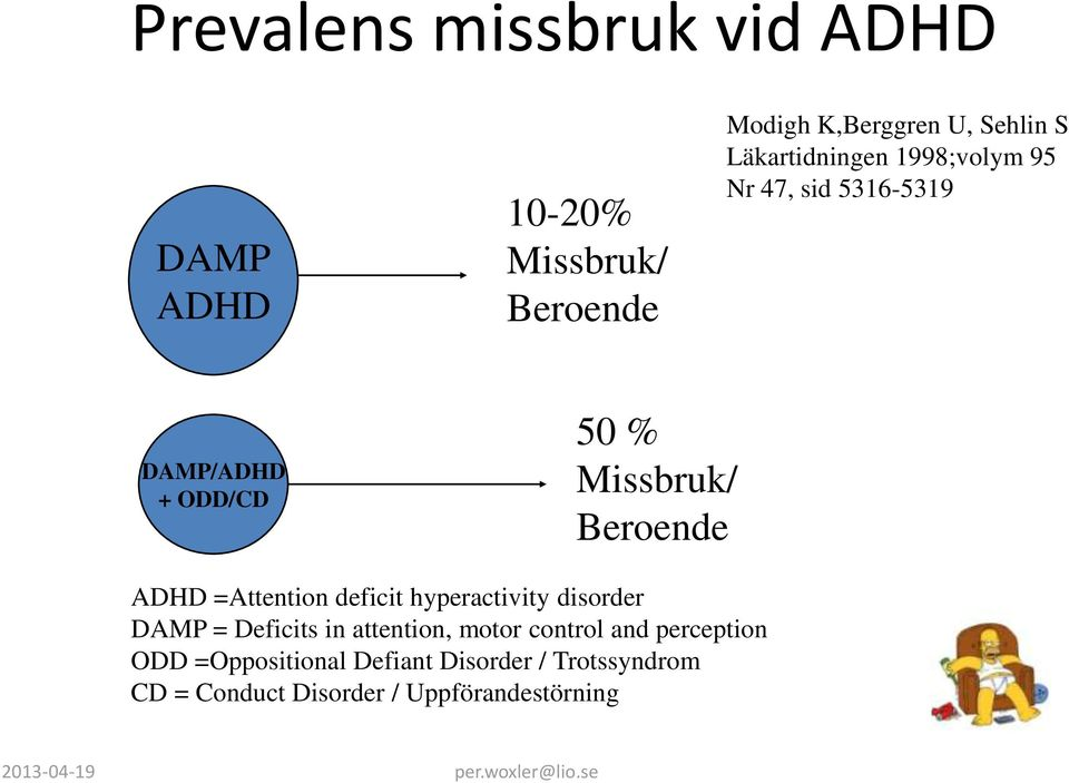 =Attention deficit hyperactivity disorder DAMP = Deficits in attention, motor control and