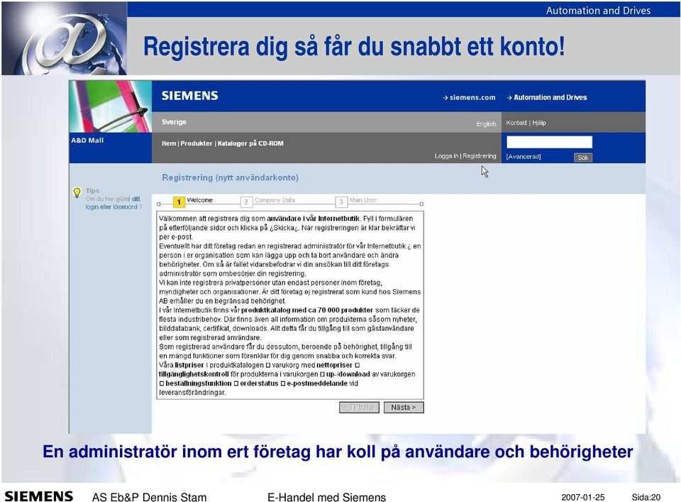 Automation and Drives En administratör