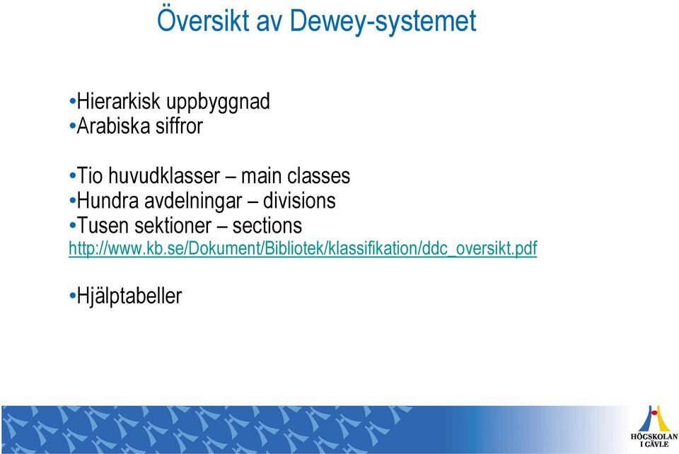 divisions Tusen sektioner sections http://www.kb.