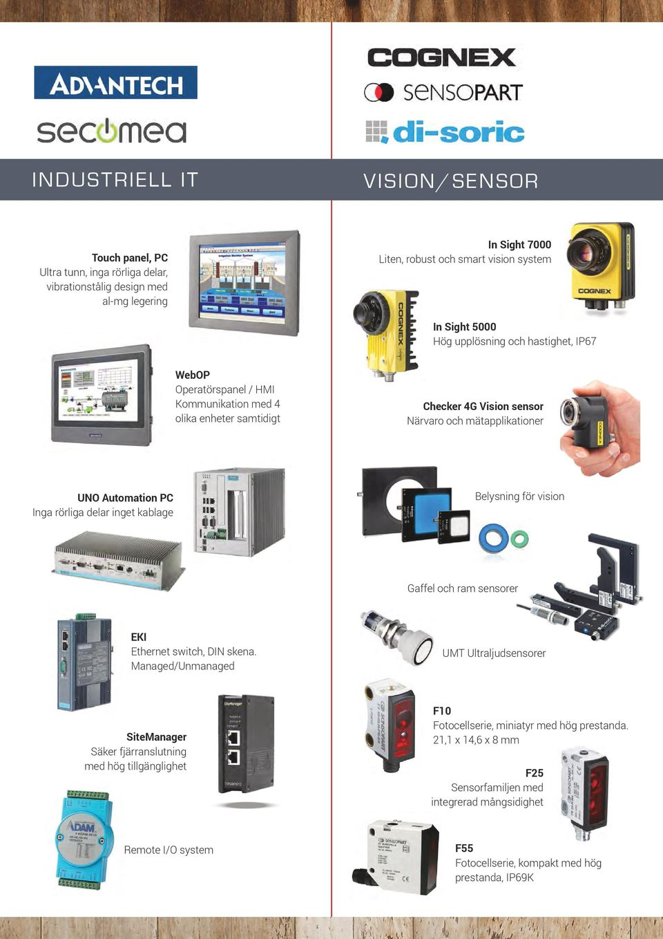 of the various photoelectric sensors series. Thanks to their extremely high performance, chips, dust, oil and waste water can all be reliably penetrated.