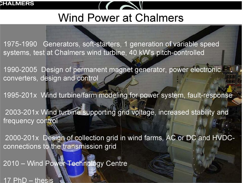 Wind turbine/farm modeling for power system, fault-response 2003-201x Wind turbine supporting grid voltage, increased stability and