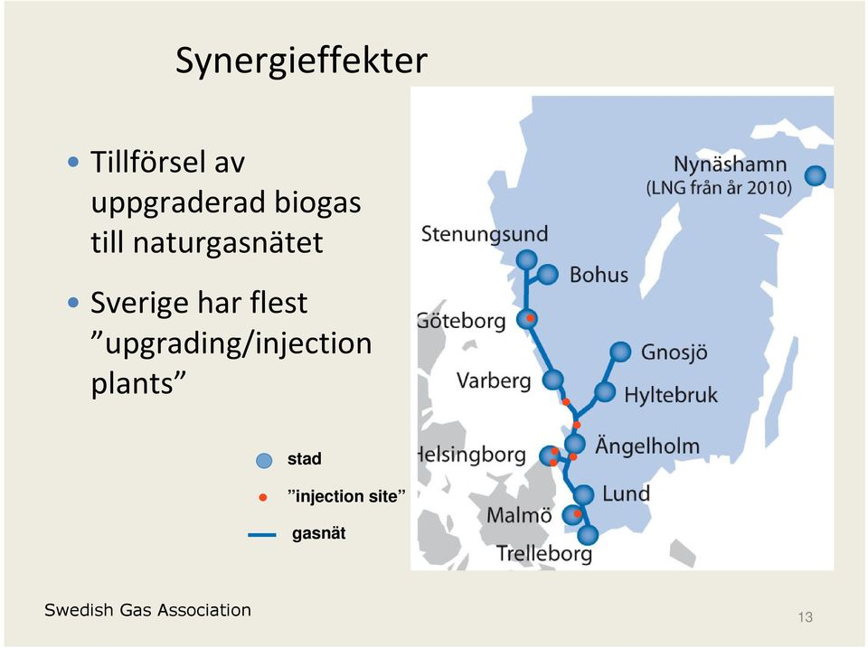 flest upgrading/injection plants stad