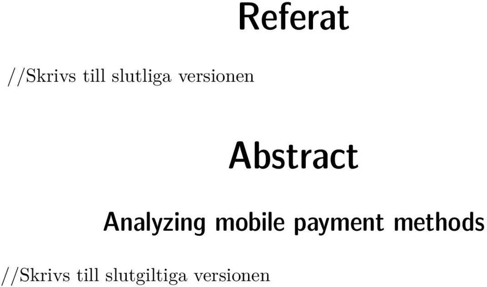 Analyzing mobile payment